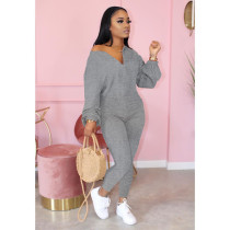 Solid Long Sleeve One Piece Jumpsuits ARM-8219