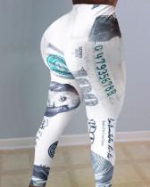 Sexy Dollar Print Tight Long Yoga Pants SHD-9322