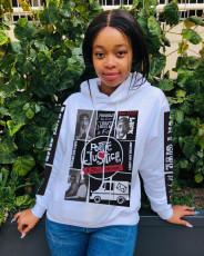 Streetwear Casual Print Hoodie Long Sleeve Pullover Sweatshirt CYAO-8587