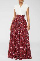 Trendy High Waist Printed Maxi Skirt SFY-161
