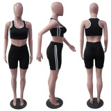 Casual Fitness Tank Top And Shorts 2 Piece Sets YUF-9005