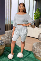 Solid Color Shorts Fashion Home Casual Set DMF-8133