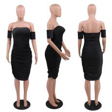 Sexy Off Shoulder Bodycon Club Dress CYA-8663