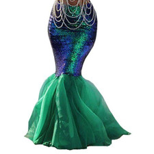 Plus Size 4XL Sexy Sequined Mermaid Long Skirt CYA-1245