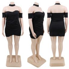 Plus Size Sexy Black Strapless Mini Tube Dress CYA-1221