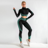 Casual Seamless Full Sleeve Fitness 2 Piece Sets BT-888
