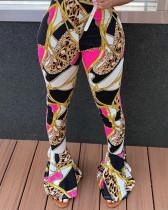 Sexy Print Casual Flared Pants LQ-5873