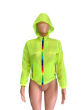 Casual Sporty Hooded Zipper Sun Protection Coat QZX-6084-1