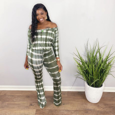 Casual Slash Neck Long Sleeve Jumpsuits WAF-7072