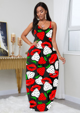Sexy Printed Sleeveless Slip Maxi Dress LLF-8806