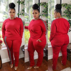 Plus Size 5XL Long Sleeve Casual Two Piece Sets NY-8923