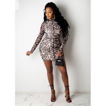 Sexy Printed High Waist Slim Mini Dress SHE-7218