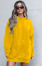 Casual Loose Long Sleeve Hoodies Dress OM-1170
