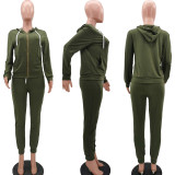 Casual Hoodies Pants Sports Two Piece Suit TK-6119