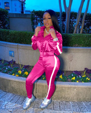 Casual Tracksuit Reflective Strip Two Piece Sets MIL-177