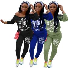Fashion Letter Printing Casual Two Piece Set YIM-145