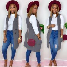 Fashion Elegant Sleeveless Vest Cardigan Coat NY-8927