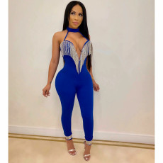 Sexy Halter Backless Tassel Party Jumpsuits CYA-8235