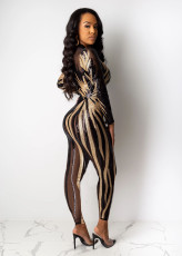Sexy See Through Sequined Club Jumpsuits CYA-8210