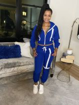 Casual Tracksuit Zipper Hooded Two Piece Sets JH-195