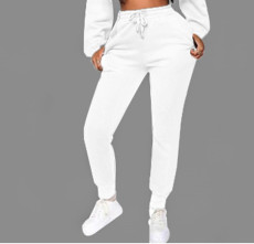 Casual Solid Plush Long Pants YMT-6179