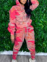 Camo Print Hoodies Pants Two Piece Suits GS-1879