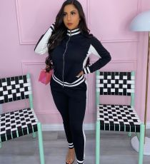 Casual Tracksuit Zipper Jacket And Pants Two Piece Sets AIL-129