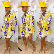 Fashion Print Blouse Top QYF-0502