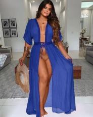 Beach Lace Up Sexy Long Cardigan Dress QYF-0316
