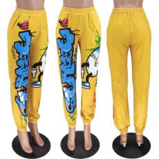 Casual Loose Printed Long Pants YH-5187