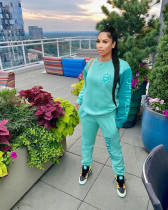 Casual Embroidery Sweatshirt Two Piece Sets TCF-001
