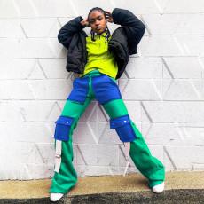 Plus Size Fashion Casual Pocket Pants LLF-8834