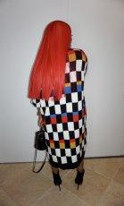 Colorful Plaid Casual Loose Midi Dress PIN-8527
