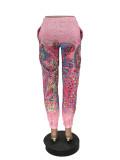 Casual Printed Long Pants LQ-5892