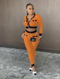Casual Ribbed Long Sleeve Two Piece Pants Set LA-3232