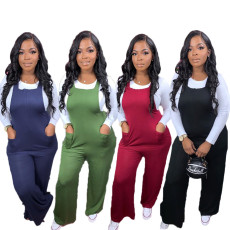 Solid Sleeveless Strap One Piece Jumpsuits SXF-2972
