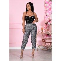 Shiny Sequins Casual Long Pants CM-800