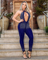 Sexy Hot Drilling Halter Backless Jumpsuits LX-9101