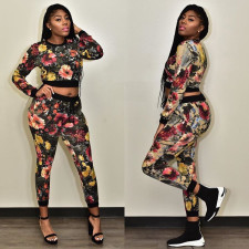 Printed Fashion Casual Long Sleeve Pants Two Piece Set LSF-9026