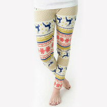 Christmas Snowflake Print Classic Leggings Pants TE-4109