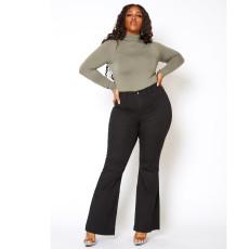 Plus Size 5XL Fashion Sexy Slim High Waist Flared Jeans HSF-2379