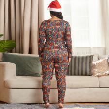 Plus Size 5XL Sexy Printed Slim Jumpsuit OSIF-20882-1