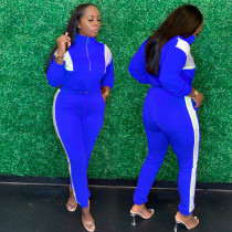 Casual Patchwork Tracksuit Two Piece Sets YIM-153