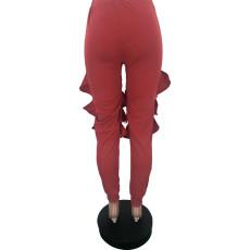 Fashion Ruffle All-match Pencil Pants YJF-8341