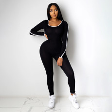 Casual Hooded Long Sleeves One Piece Jumpsuits AWF-5819