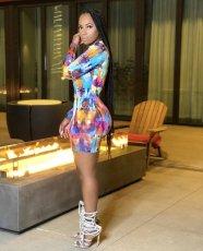 Fashion Sexy Slim Printed Long Sleeve Mini Dress YJF-8362