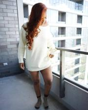 Casual White Loose Sweater ANNF-6021