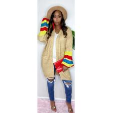 Color Block Casual Fashion Sweater Coat CQ-088
