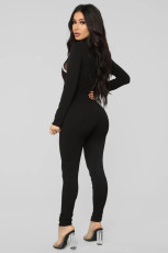 Casual Sports Long Sleeve Tight Jumpsuits WZ-8345