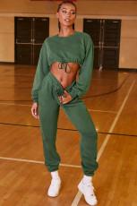 Casual Long Sleeve Sweatshirt Two Piece Pants Set SFY-199